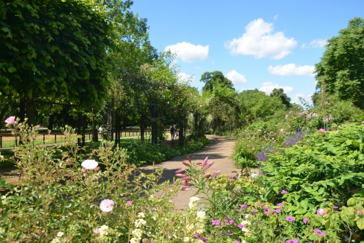 The Rose Garden near Hyde Park Corner in Hyde Park